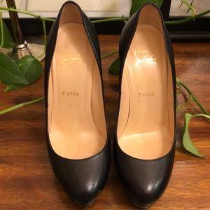 Black Christian Louboutin platform heels